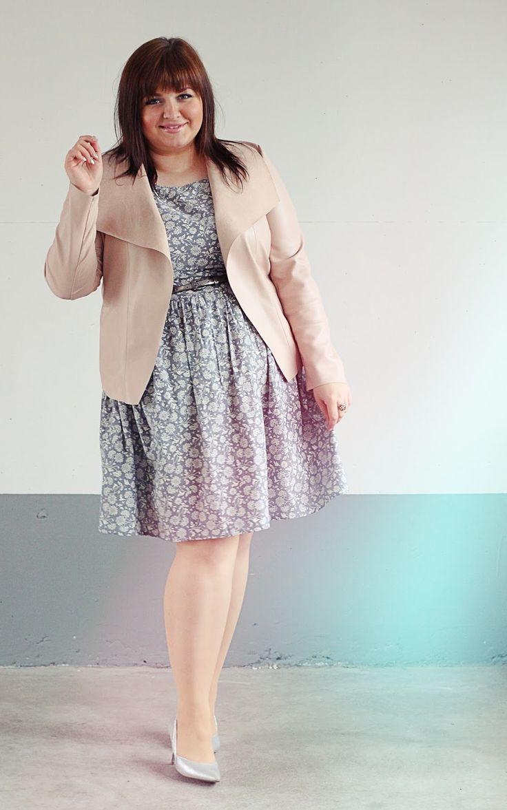 CONQUORE · The Fatshion Café Plus Size Blog: Plus Size Pastell Look  Kleid und Schuhe von C&A Gürtel und Jacke von M&S