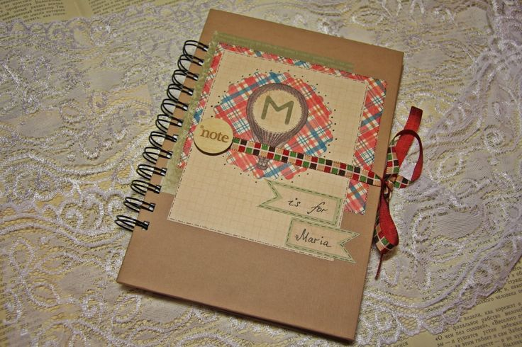 "Creative Hamster: Блокнот ""М значит Мария"". Notebook ""M for Maria"" Scrapbooking"