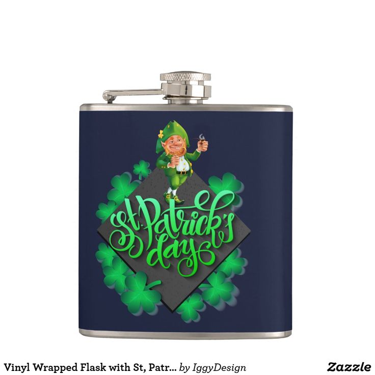 Vinyl Wrapped Flask with St, Patrick days motivest patricks day decorations, st patricks day crafts, st patricks day, st patricks day party, st patrick's day ideas, st. patrick's day activities, t shirts #saint #saintpatricksday #stpatricksday #design #trend #saintpatricksday2018 #patricks #greenday #stpatricksday2018 #style #StPatricksFest #SaintPatricksDay #saint #shamrock #StPatricksDayShirt #muglife #mugs #mug #pillows #pillows #coffee #flask