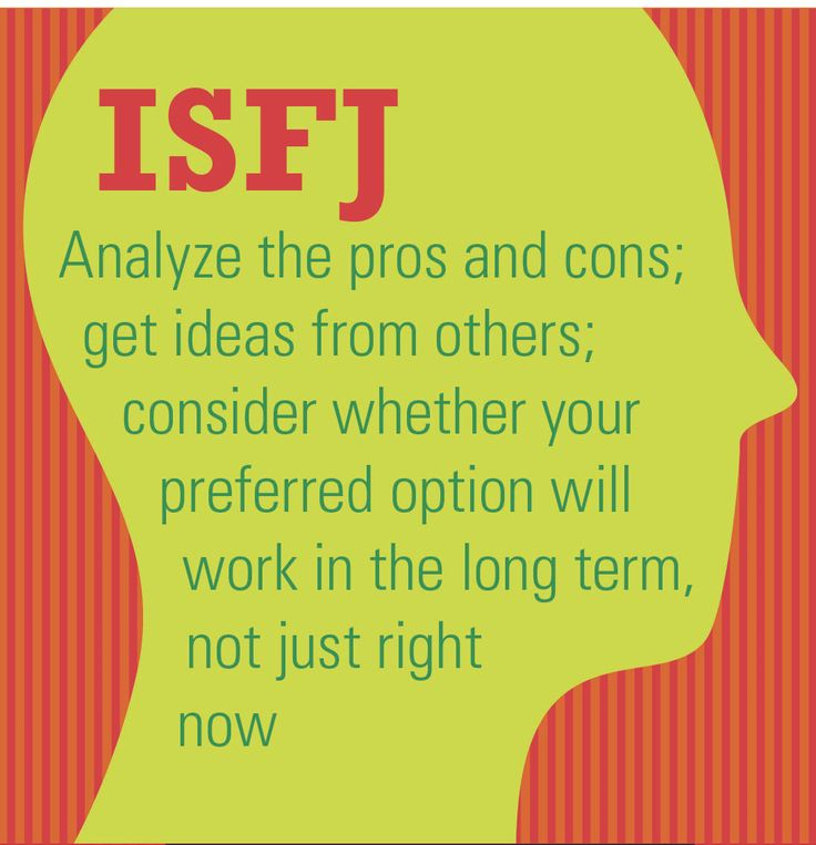 isfj and dating Istj relationships: disadvantages of dating an istj type while there are quite a few positives that go along with engaging in a romantic relationship with this.