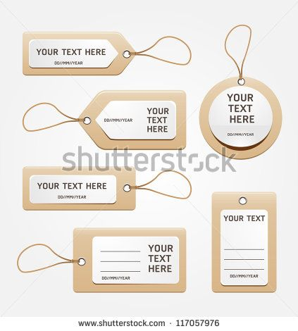 paper price tag - stock vector