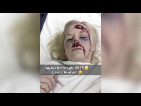 Ngeri! Wanita ini merekam dirinya di Snapchat sesaat sebelum Kecelakaan - YouTube