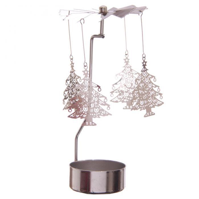 Stojánek na čajovou svíčku s otočnou dekorací Vánoční stromeček - krásná vánoční #dekorace pro chvíle pohody #vánoce #christmas #homedecor #tealight #spinner