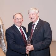 Frank Gervais, DipEng'58 Distinguished Community Service Award Pictured with President of SMU Dr. Colin Dodds