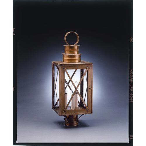 The 25 best outdoor post lights ideas on pinterest craftsman northeast lantern suffolk dark antique brass three light outdoor post light with clear glass aloadofball Gallery