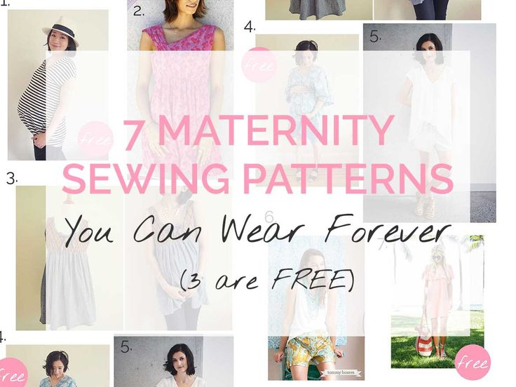 7 Maternity Sewing Patterns You Can Wear Forever (3 are free!)