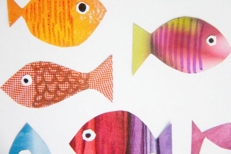Fische basteln mit kindern basteln - Fische basteln vorlagen ...