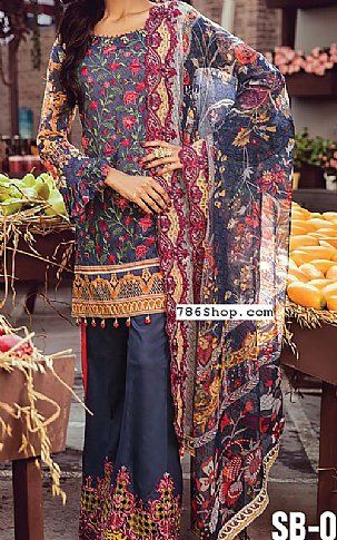 c014c234af Dark Grey Lawn Suit | Buy Shahbano Pakistani Dresses and Clothing online in  USA, UK