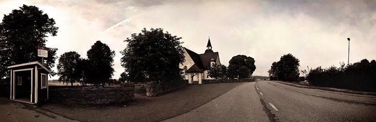 Panorama of Sorunda kyrka, Nynäshamn. Part of the photo project Vida Vyer: Nynäshamn. Photos by Anna Andersson © 2012