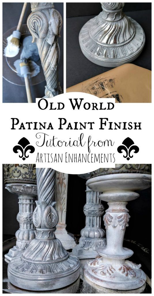How to create an Old World Patina Paint Finish with Artisan Enhancements Leaf & Foil Size and Crackle Tex!