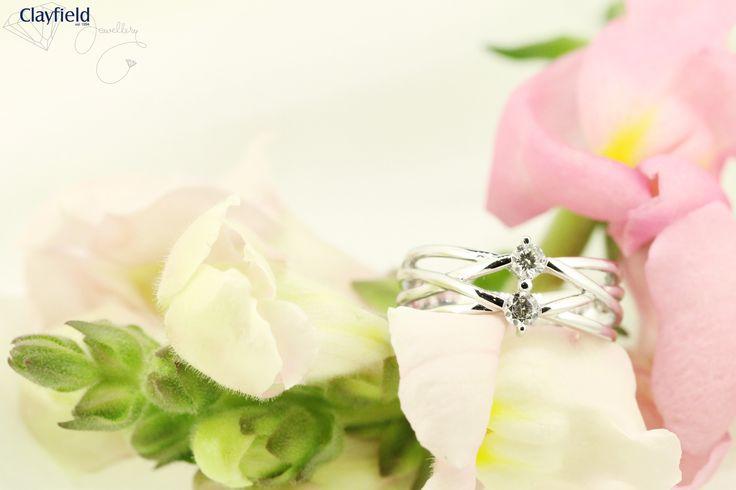18ct white gold diamond dress ring by Clayfield Jewellery in Nundah Village, North Brisbane.