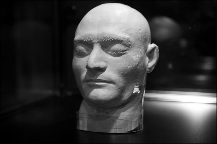 Ned Kelly death mask, Melbourne, Australia.