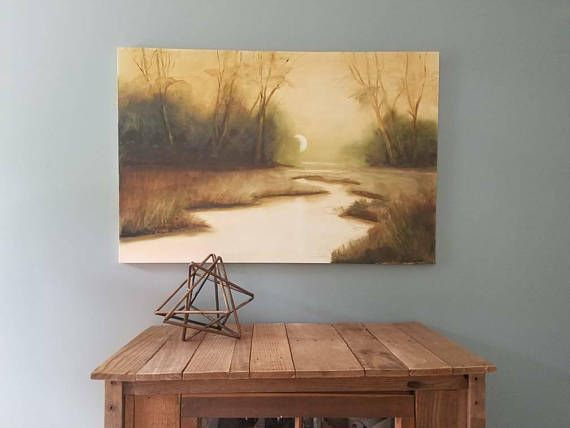Check out this item in my Etsy shop https://www.etsy.com/listing/551745393/moonlit-marsh-oil-painting-by-stacey