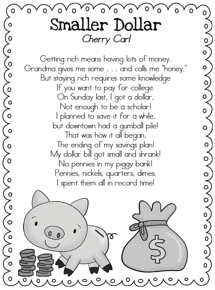 Nice poem to teach about Opportunity Cost