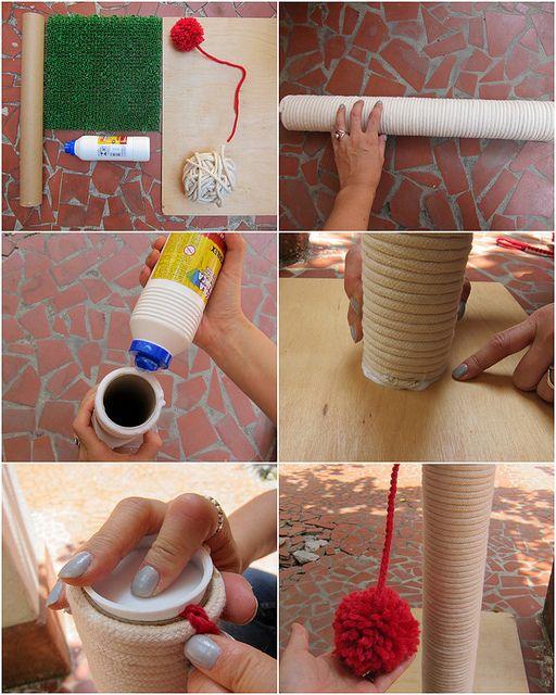 Arranhador para gatos com maxi tricô.