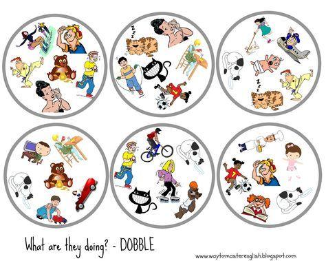 Stworzyłam nowe Dobble , które wykorzytam przy powtórce Present Continuous.    Zasady Dobble opisywałam tu .     Do zrobienia tej wersji w...