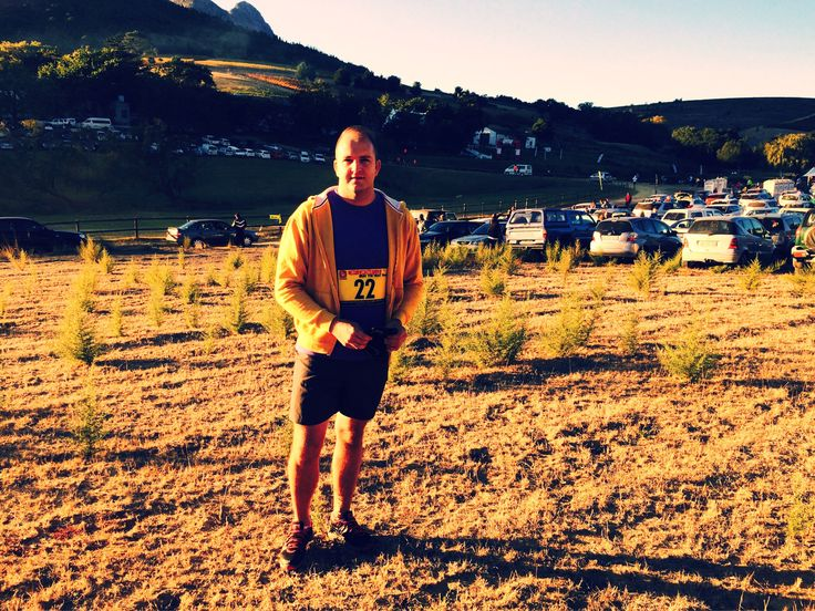 Uhmmm - I looked a whole lot better at tge start than the end line - #getFit #trailRun #fun #sweat #vineyard