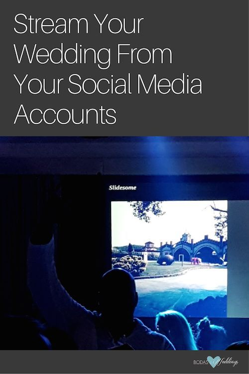 Stream your wedding from your social media accounts with slide some.