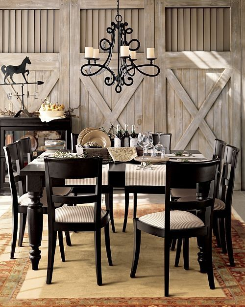 Equestrian furniture equestrian dining room furniture for Dining room decor inspiration