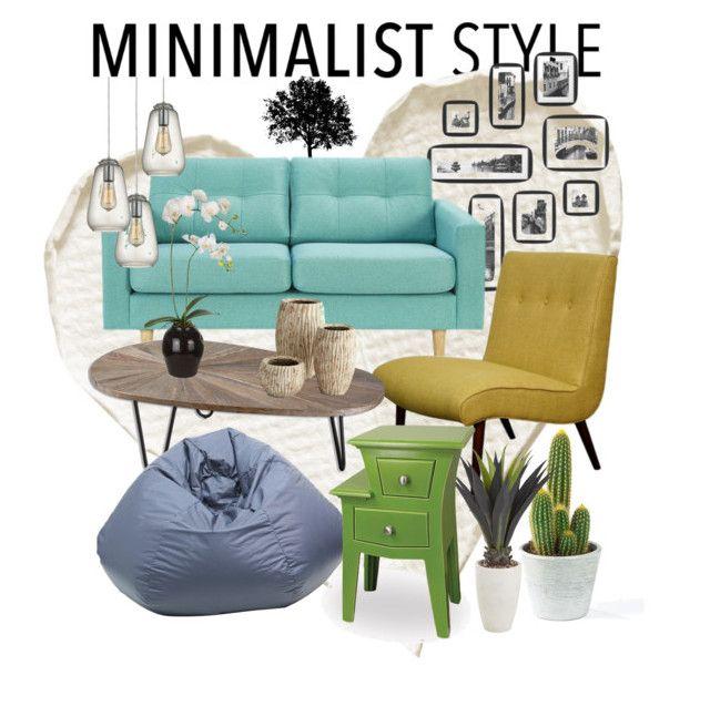 """Modern Minimalist"" by ibuperi on Polyvore featuring interior, interiors, interior design, home, home decor, interior decorating, Dot & Bo, Cyan Design, Sia and modern"