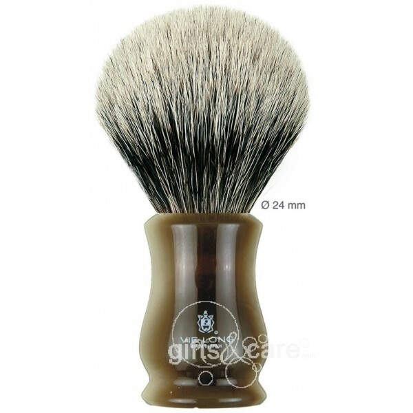 Vie long two band shaving brush ( http://www.giftsandcare.com/es/tejon-blanco-super-badger/832-brocha-de-afeitar-tejon-blanco-super-badger-16650.html). Vie long is one of the best manufacturers of badger brushes in the world.made in Spain!