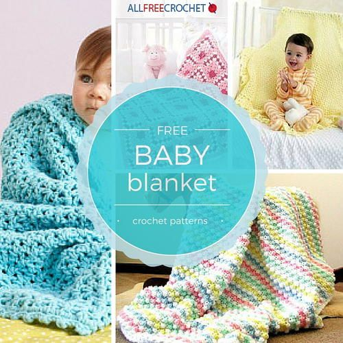 Free Baby Blanket Crochet Patterns. Whether you're crocheting for a baby shower gift or your own little one, these DIY baby blankets will keep that little cutie pie warm & snuggly!