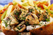 Garlic mushroom jackets – Recipes – Slimming World - Free on Extra Easy