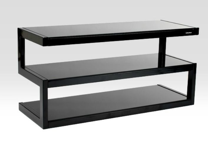 #Black #TV #Unit #Entertainment #Hi-Fi #Stand #3 #Shelves #Storage #Rack #Shelf #Cabinet #New