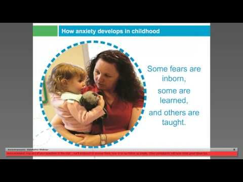Understanding children's anxiety & fears  Wanting to find ways to support young children with anxious behaviours and fears …  Join us to discuss what anxiety in young children looks like, how to respond in positive ways and when to get help.  KidsMatter Early Childhood webinars | kidsmatter.edu.au
