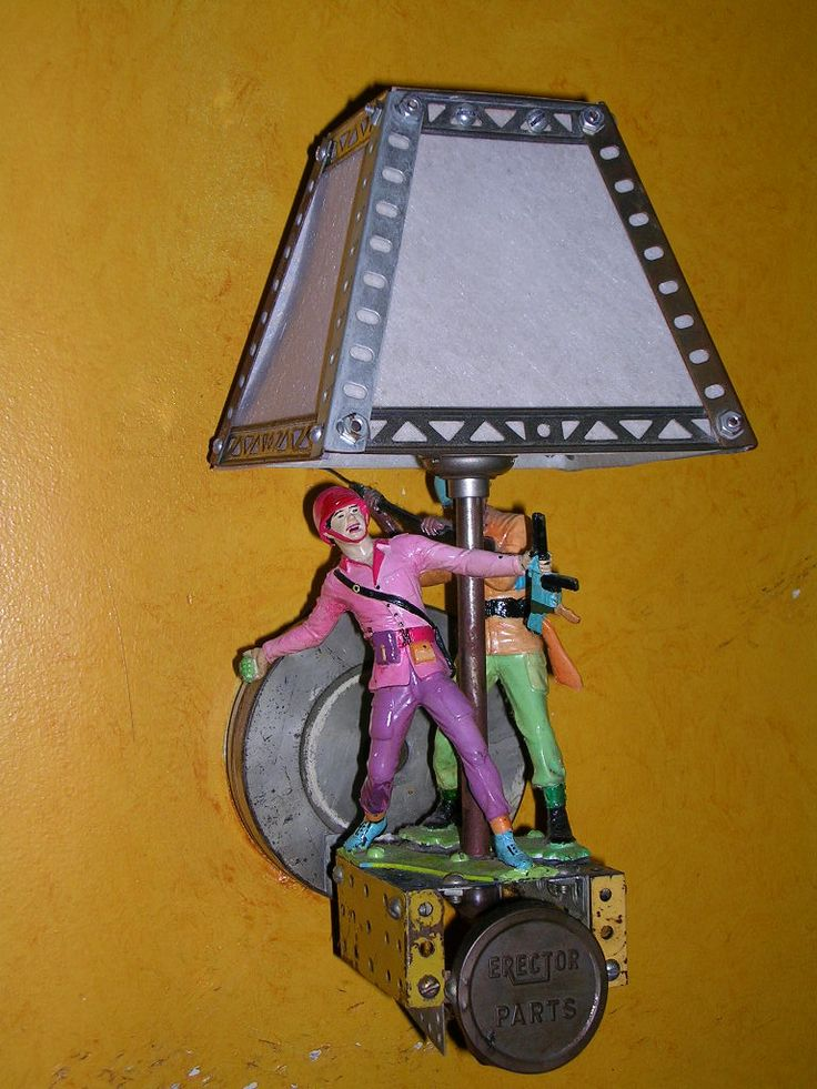 """""""Don't ask don't tell"""" sconce at the original Evening Star, circa 1997"""