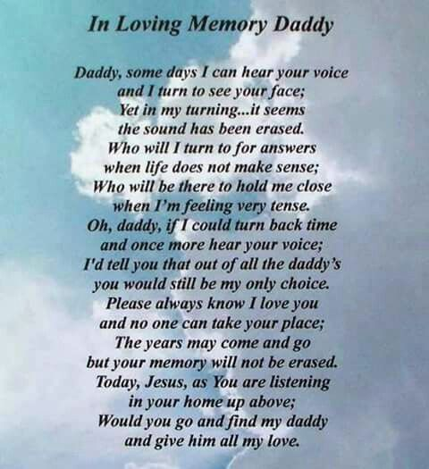 In Memory Dad Parent Daddy: We Miss You So Very Much Daddy!
