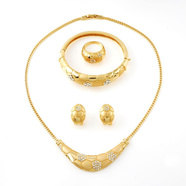 wholesale Mideast full jewelry sets coverd 18k real yellow goldplating