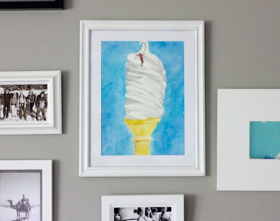 Ski Cream This ice cream print has the ultimate ski trip inspiration mixed with the best food in the world.