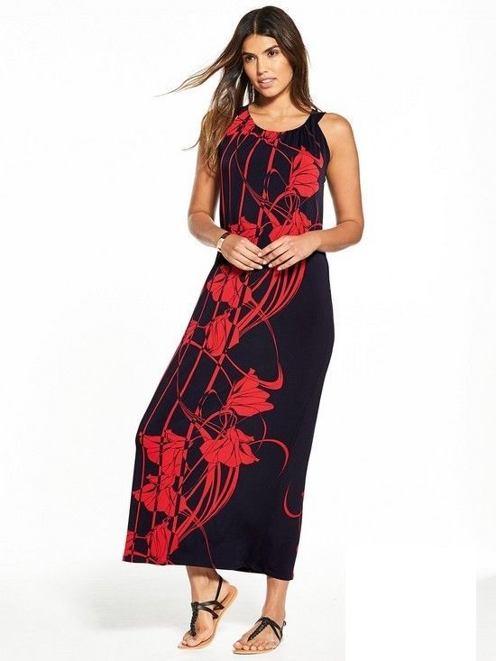 Wallis Placed Floral Maxi Dress Black Red Size Uk 14 Rrp 40 Dh085 Hh 22 Fashion Clothing Shoes Accessories Black Maxi Dress Maxi Dress Maxi Dress Evening