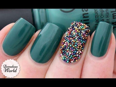 ▶ How To: Caviar Nail Art Manicure - YouTube