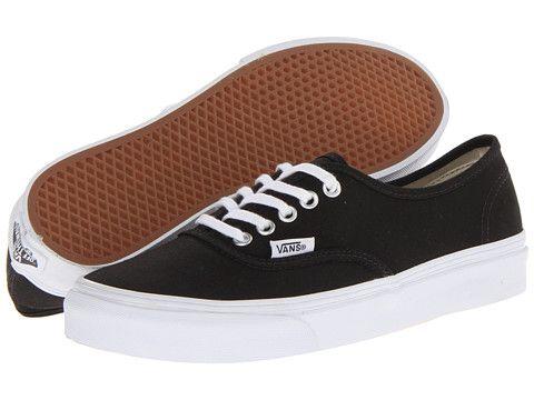vans authentic slim black