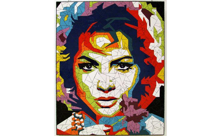 Sara Montiel mosaic portrait
