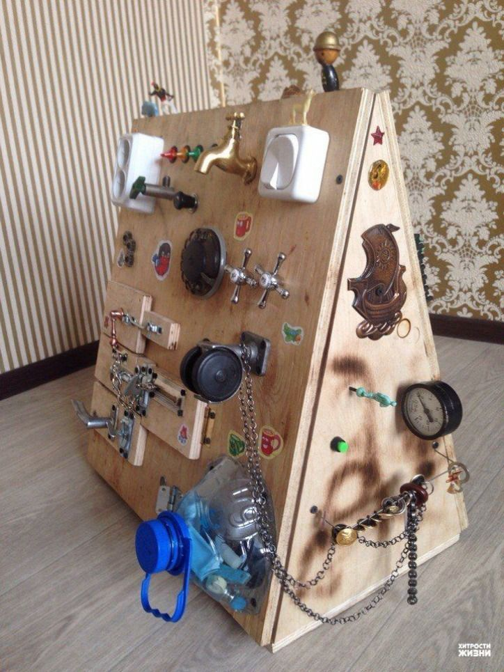 Let's make a mat wall for the kids from the rest of the gadgets – Autismus und Wahrnehmung