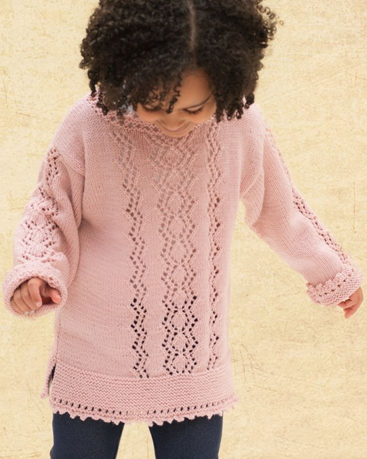 Powder Zigzag Sweater | Knitting Fever Yarns & Euro Yarns