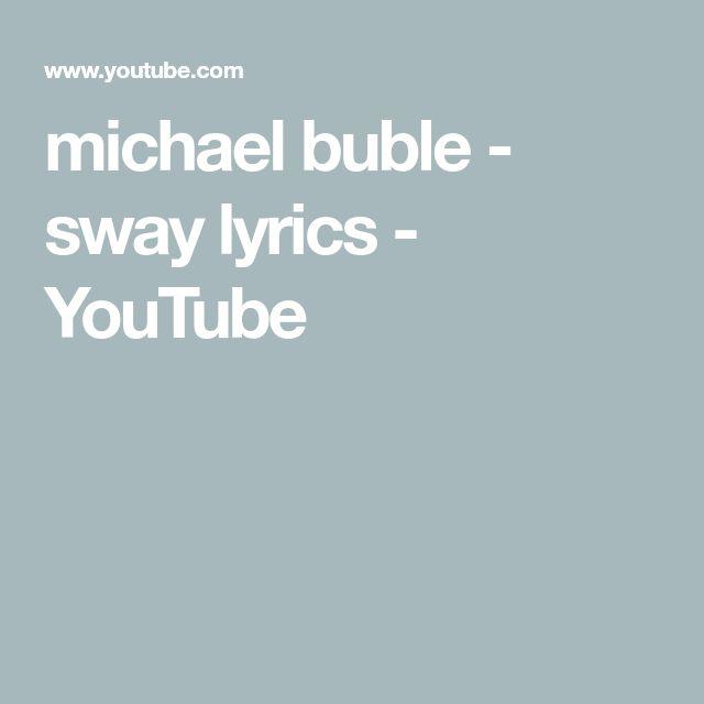 michael buble - sway lyrics - YouTube
