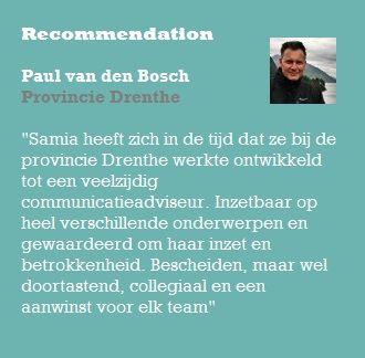 Recommendation Paul van den Bosch