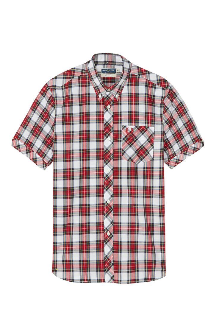Fred Perry - Reissues Short Sleeve Tartan Shirt White