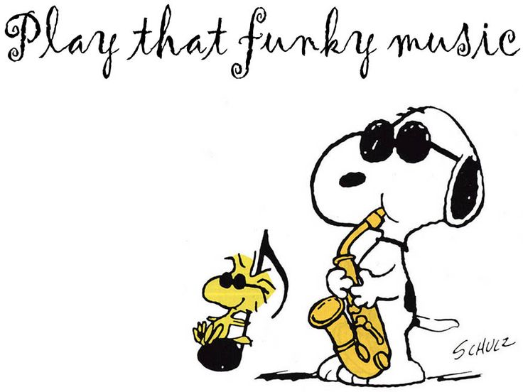 ☮ American Hippie Music Quotes ~ Snoopy Woodstock .. Play that funky music