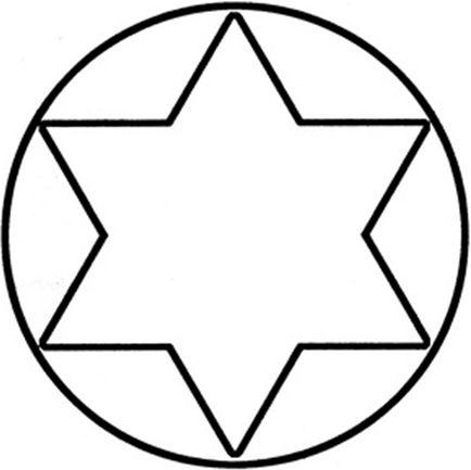 Магический круг с гексаграммой - символ богатства
