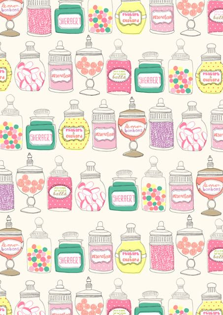 Sweets/candy jar wallpaper
