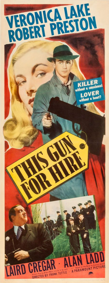"""Movie Posters:Film Noir, This Gun for Hire (Paramount, 1942). Insert (14"""" X... Image #1"""