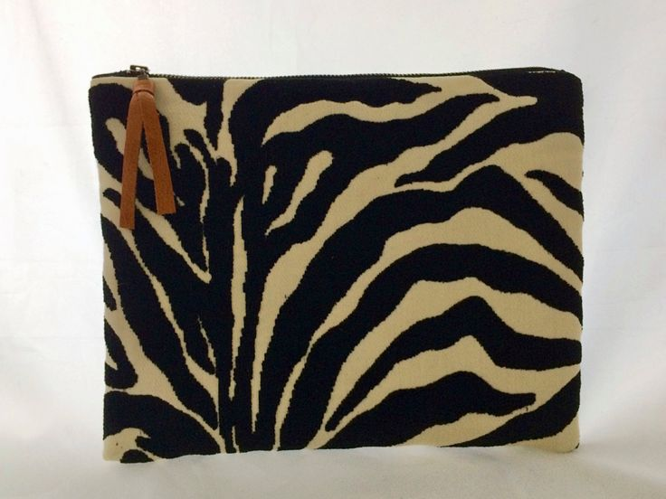 Black Clutch Purse, Zipper Pouch, Zebra Print Clutch, Leopard Print Bag, Animal Print bag, Gift for her, Black clutch bag, Bags and Purses by HilarieDayton on Etsy