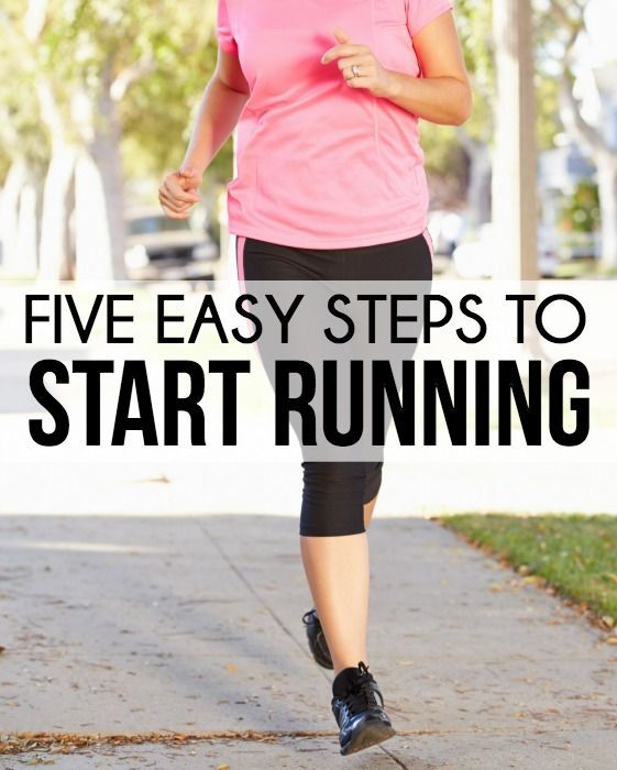 Five easy steps to start running even for people who have never run before! Great beginning and returning runner ideas from www.playpartypin.com