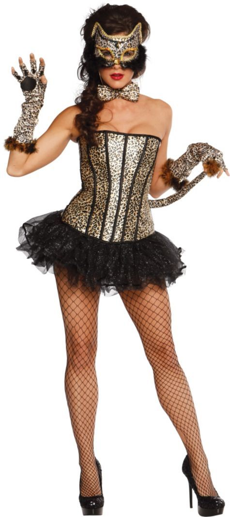 Adult Pretty Kitty Leopard Costume ($84.99) - Party City ONLINE
