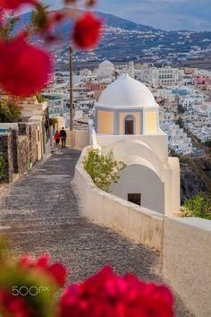 Spring in Fira - Santorini, Greece                                                                                                                                                                                 More